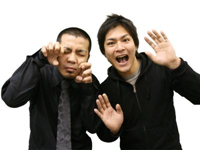 鹿児島出身のお笑いコンビ天竺鼠の川原さんと瀬下さん